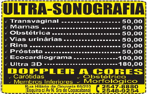 ULTRASSONOGRAFIA 3D - PREÇO POPULAR R$ 180,00 2