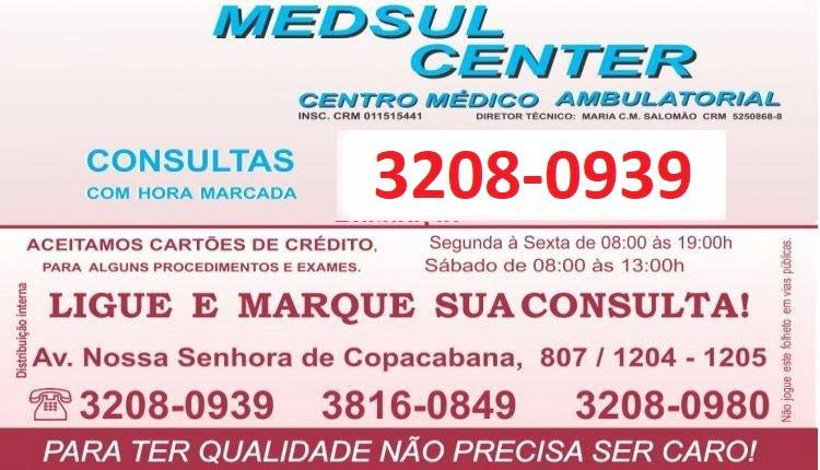 Consulta Médica Popular Copacabana Medsul Center