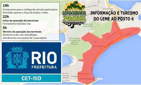 Esquema Especial de Trânsito e Transporte Réveillon de Copacabana 2017-2018 1