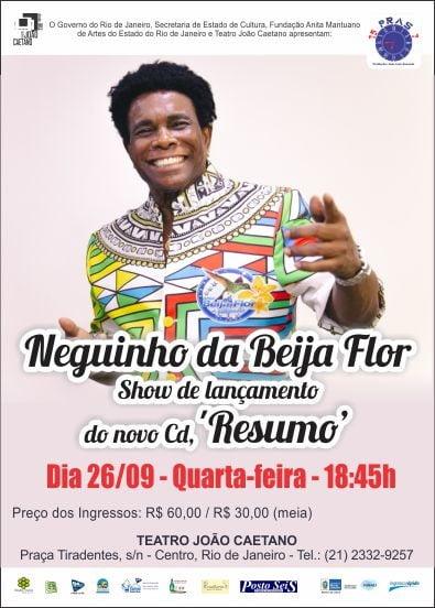 NEGUINHO DA BEIJA FLOR lança seu 29º álbum no Teatro João Caetano, no dia 26 de setembro 2018. 1