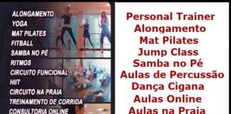 Personal Trainer Espaço Naya Nader, Alongamento, Mat Pilates, Jump Class, Samba no Pé, Aula de Percussão, Dança Cigana, Aulas Online, Aulas na Praia, Hatha Yoga