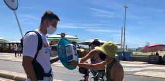 Orla Rio promove mais uma edição da blitz de conscientização nas praias - Divulgação Orla Rio