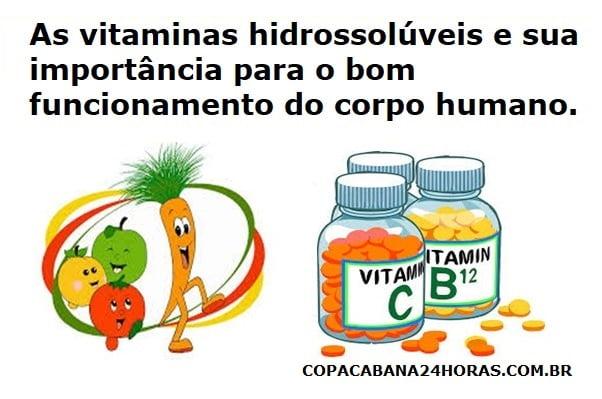 As vitaminas hidrossolúveis e sua importância para o bom funcionamento do corpo humano.
