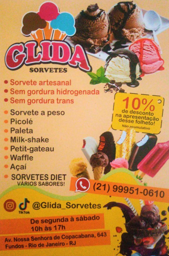 GLIDA SORVETES ARTESANAL COPACABANA AV NS SRA DE COPACABANA 643 FUNDOS